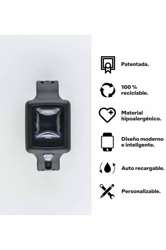 PULSERA DE GEL HIDROALCOHOLICO NEGRA