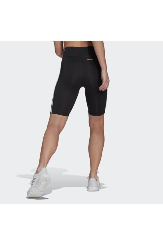 Mallas adidas W 3S SH TIG NEGRO/BLAN - Masdeporte