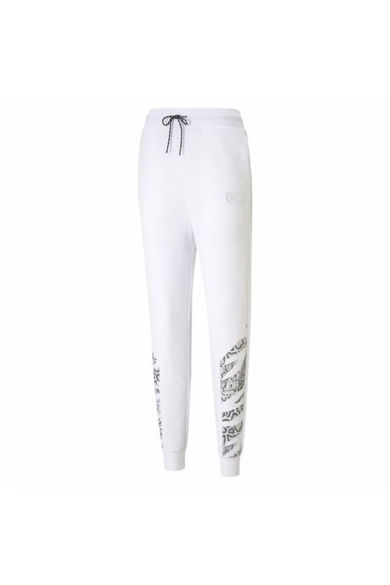 Pantalones Rebel High Waist Pants Puma White - masdeporte