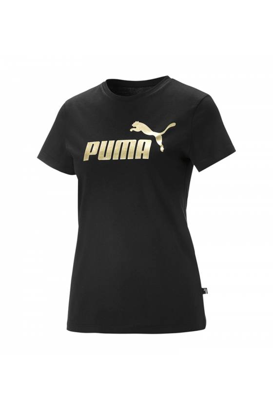 ESS+ Metallic Logo Tee Puma...