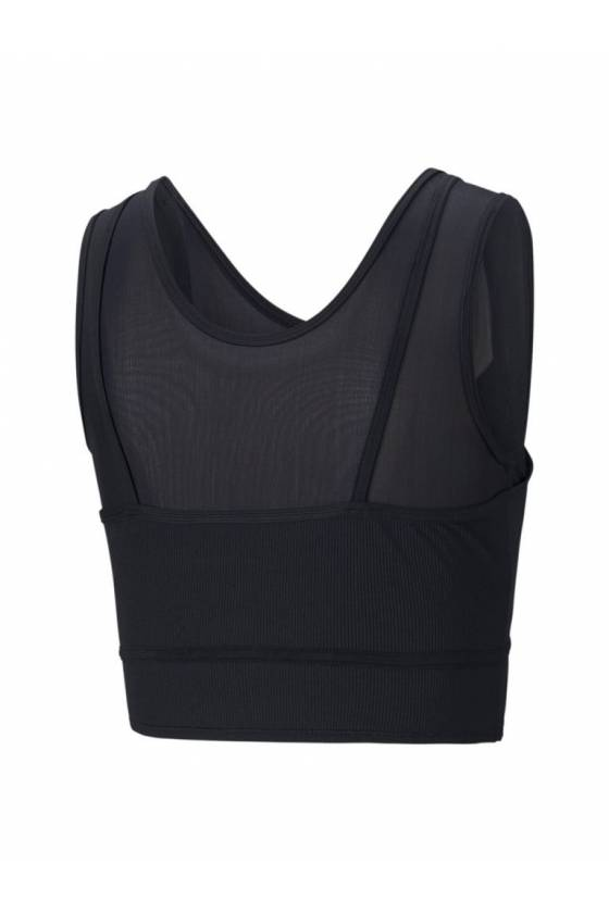 CROP TOP STUDIO LAYERED Puma Black - masdeporte