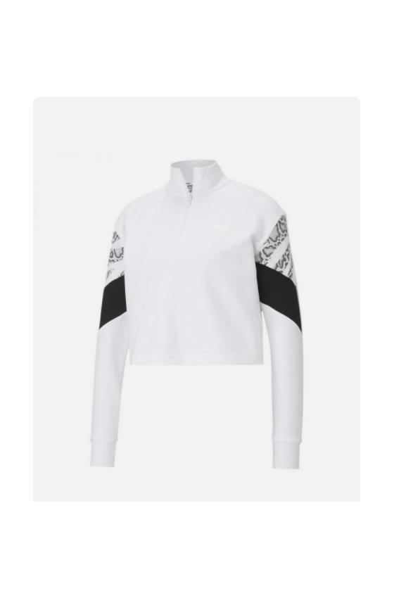 Rebel Half-Zip Crew TR Puma White-masdeporte