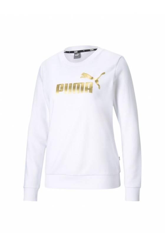 Sudadera ESS+ Metallic Logo Cre Puma White - masdeporte
