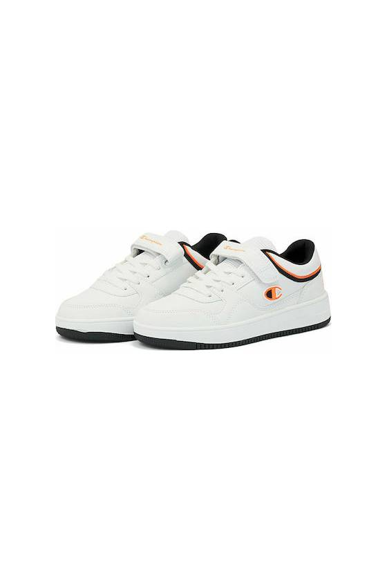 Zapatillas Champion Low Cut Shoe REBOUND L WHT/ORG/NB -masdeporte