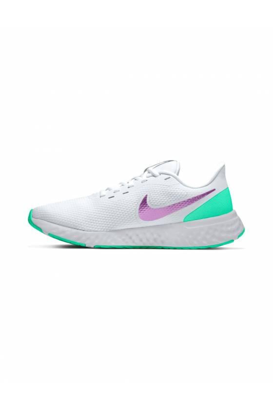 Zapatillas Nike Revolution 5 WHITE/VIOL - masdeporte