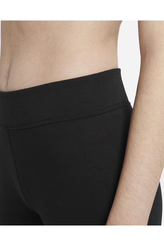 Leggings Nike Sportswear Essent con Swoosh BLACK/WHIT - masdeporte