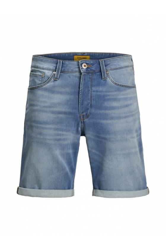 Pantalones Cortos Jack and Jones - Icon Indigo Knit -msdsport