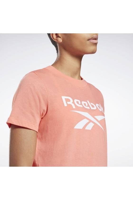 Camiseta Reebok Identity Logo - Twisted Coral - Msdsport by Masdeporte