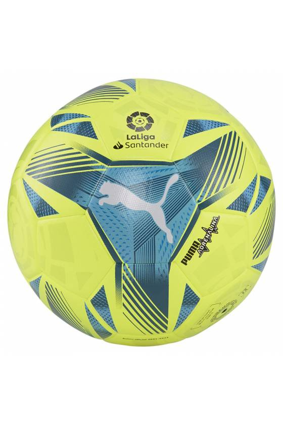 Balón de futbol de LaLiga primera División 2021-2022 Adrenalina Hybrid Lemon Toni - Msdsport by Masdeporte