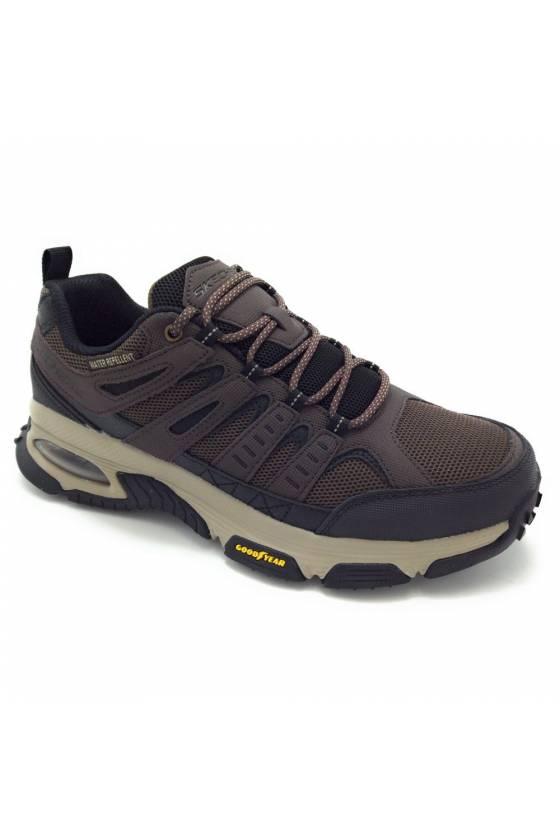 Zapatillas Skechers para hombre Goodyear air enjoy marrones  237214-BRBK - msdsport