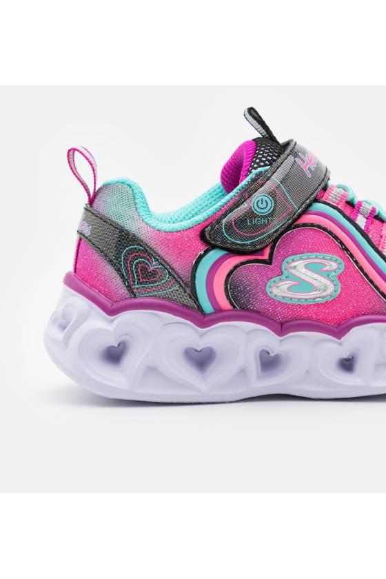 Zapatillas Skechers Heart Lights Rainbow Lux para niña